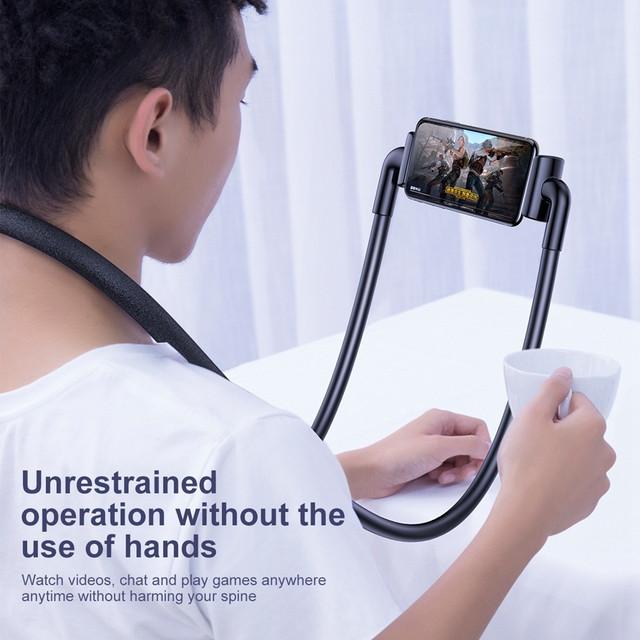 Держатель для телефона/планшета Baseus New Neck-Mounted Lazy SUJG-ALR01 SUJG-ALR02 Черный Белый