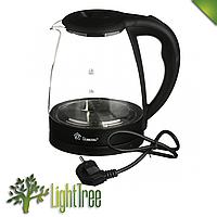 Электрический чайник Domotec MS-8210 чёрного цвета