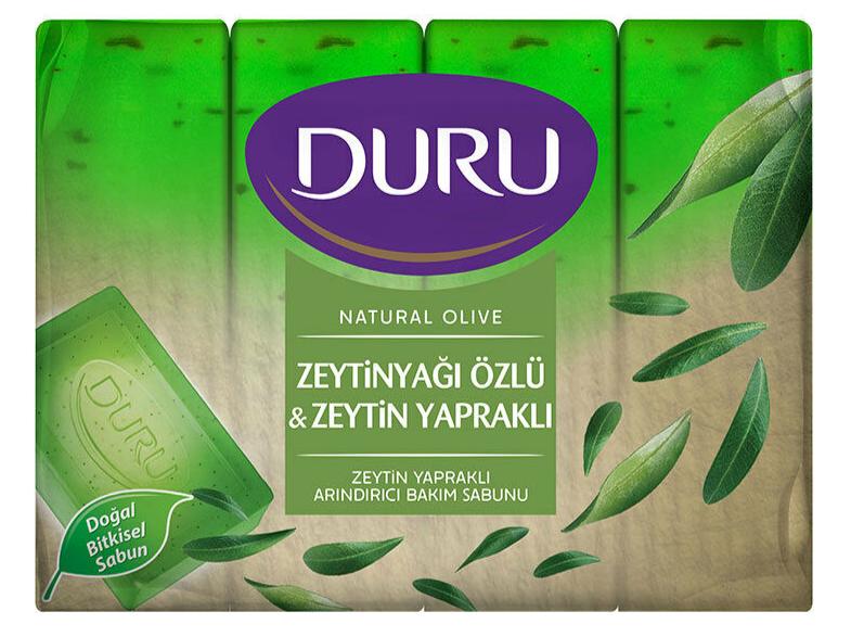 Мыло DURU Natural Olive с экстрактом оливкового масла и листьями оливы (4*150г.)