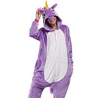 Кигуруми для взрослых Единорог (Фиолетовый)