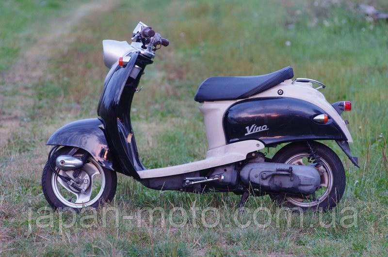 Скутер Yamaha Vino (черный с серым) 2Т