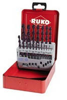 Набор сверл по металлу RUKO 258 214 F
