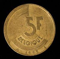 Монета Бельгии 5 франков 1986 г.