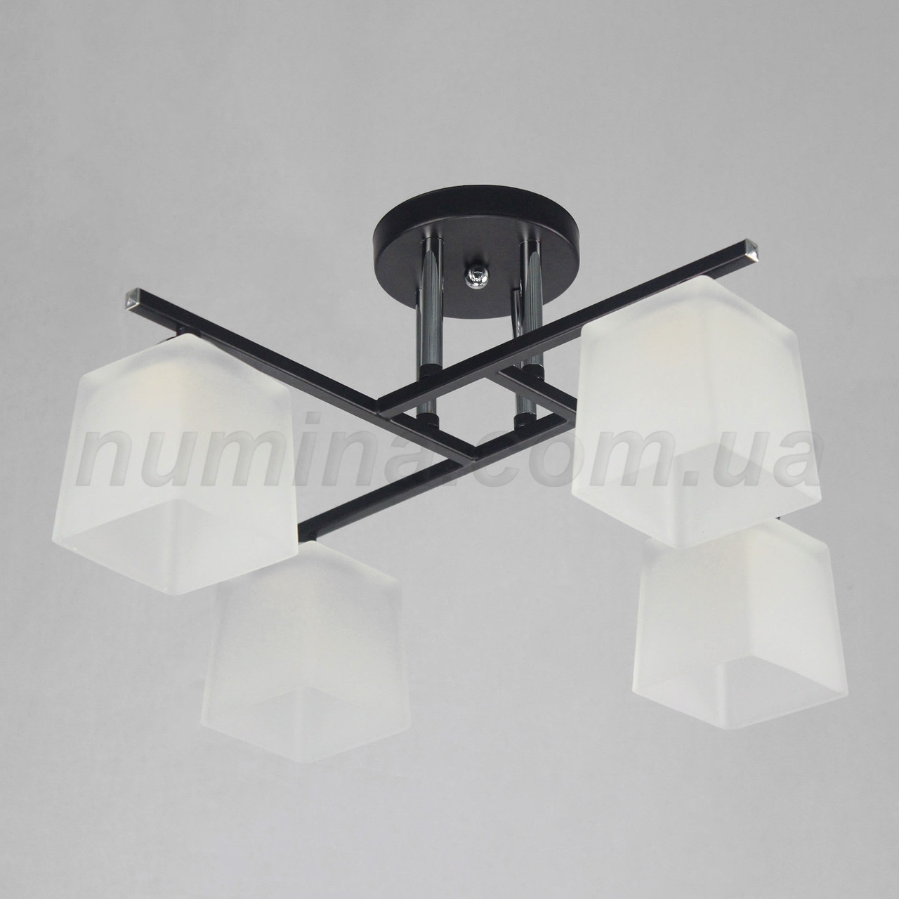 Люстра потолочная на 4 лампы 29-E512/4 CR+BK+WT