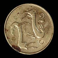 Монета Кипра 2 цента 1983 г.