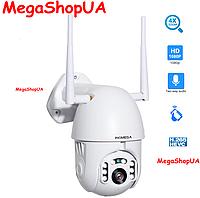 Внешняя, поворотная, погодозащитная цифровая IP-камера Wi-Fi HD 1080P / 2MP ( 4 X Zoom )