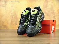 Кроссовки Nike Air Max 95 реплика ААА+ размер 44,46 зеленый (живые фото), фото 1