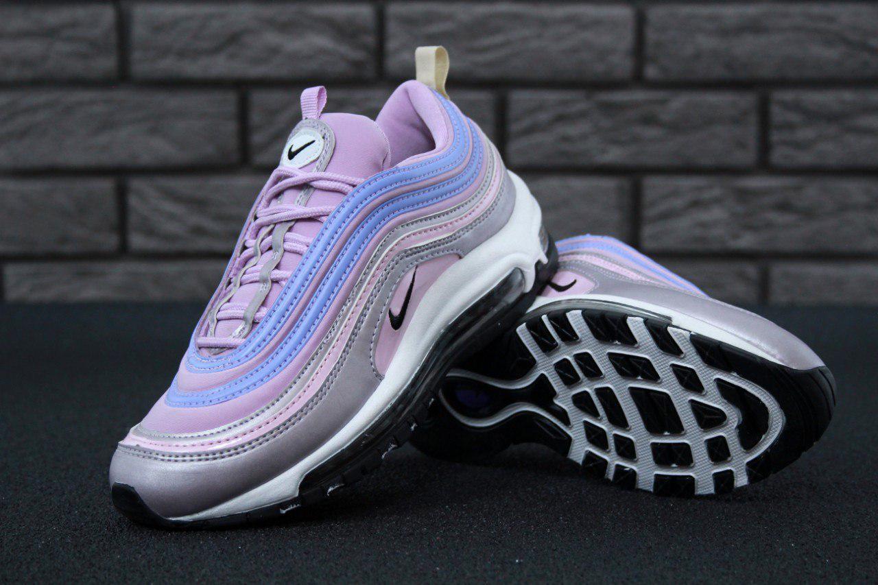 Кроссовки Nike Air Max 97 реплика ААА+ размер 37,39 фиолетовый (живые фото), фото 1