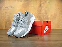 Кроссовки Nike Air Huarache реплика ААА+ (натуральная кожа) размер 36,38,44 серый (живые фото), фото 1