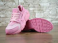 Кроссовки женские Nike Air Huarache реплика ААА+ (натуральная кожа) размер 40 розовый (живые фото), фото 1