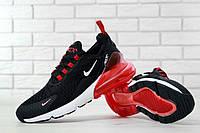 Кроссовки мужские Nike Air Max 270 реплика ААА+ размер 41-45 черный/белый/красный (живые фото), фото 1