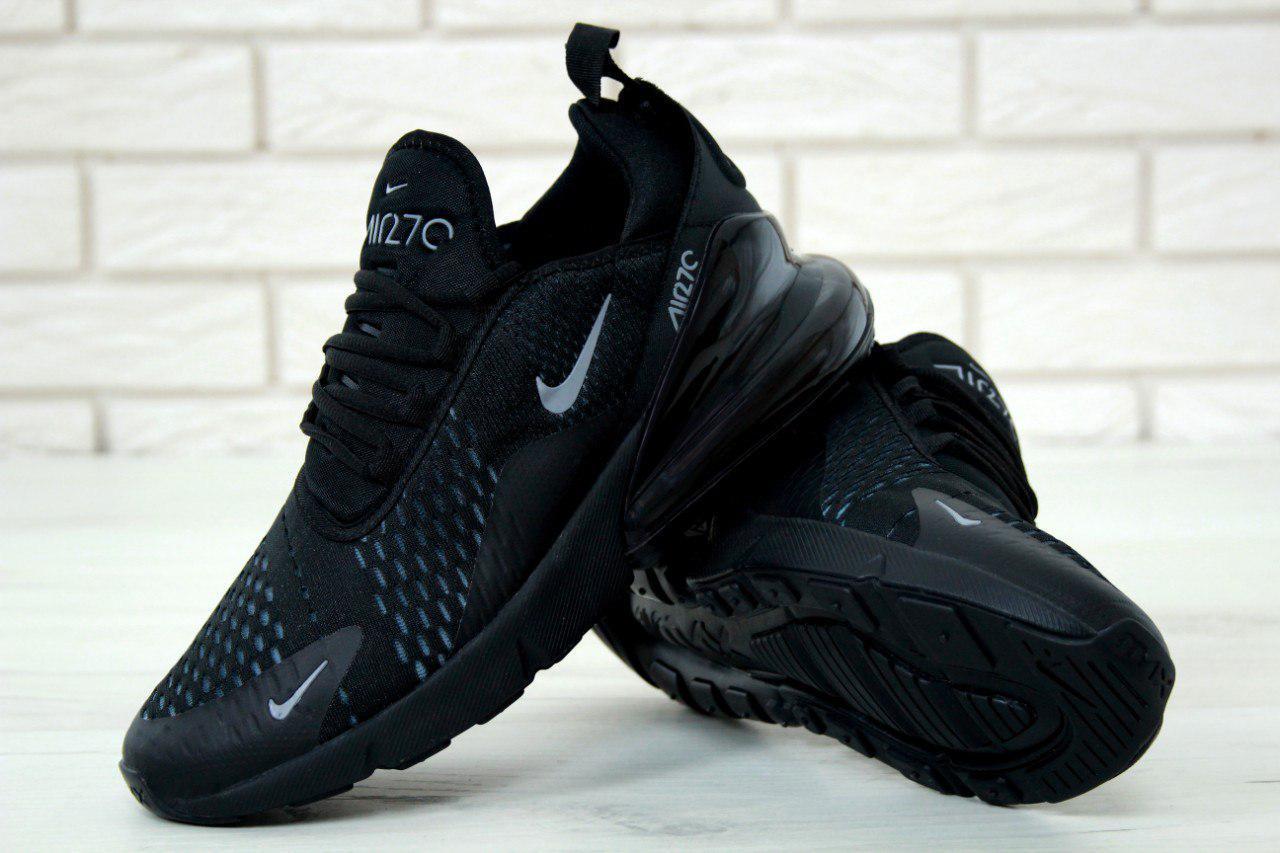 Кроссовки мужские Nike Air Max 270 реплика ААА+ размер 44 черный (живые фото), фото 1