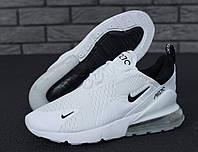 Кроссовки унисекс Nike Air Max 270 реплика ААА+ размер 36-45 белый (живые фото), фото 1