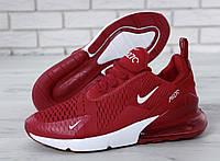 Кроссовки мужские Nike Air Max 270 реплика ААА+ размер 42 красный (живые фото), фото 1