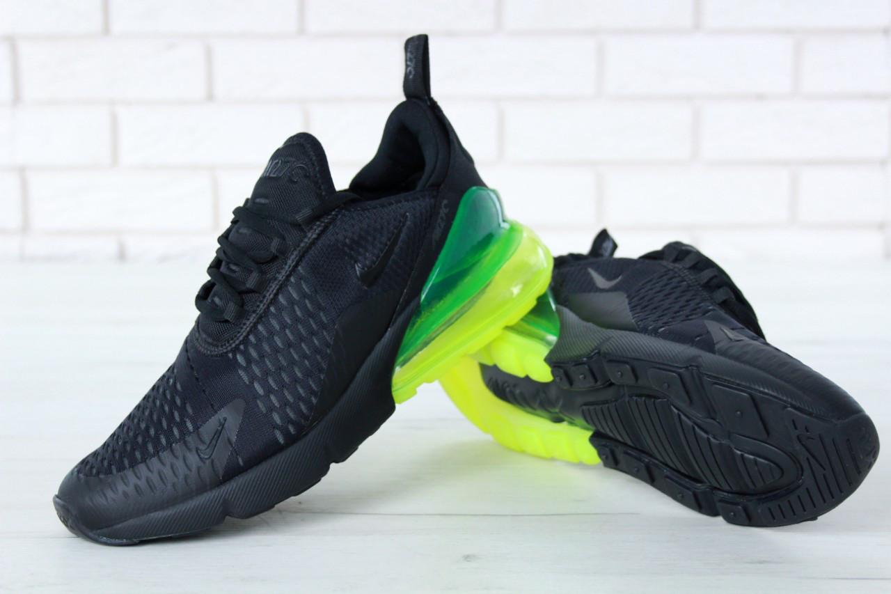 Кроссовки мужские Nike Air Max 270 реплика ААА+ размер 42 черный (живые фото), фото 1
