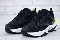 Кроссовки унисекс Nike M2K Tekno реплика ААА+ (натуральная кожа) размер 37-39,42-43 черный (живие фото), фото 1