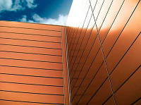 Фасадные панели стальные оцынкованные с порошковым покрытием