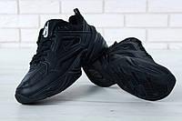 Кроссовки мужские Nike M2K Tekno реплика ААА+ (натуральная кожа) размер 41-44 черный (живые фото), фото 1