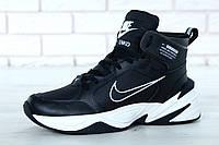 Зимние кроссовки мужские Nike M2K Tekno реплика ААА+ размер 41-45 черный (живые фото), фото 1