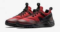 Кроссовки Nike Air Huarache Utility реплика ААА+ (натуральная кожа) размер 42 красный