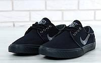 Кроссовки мужские Nike Stefan Janoski реплика ААА+ размер 40-45 черный (живые фото), фото 1