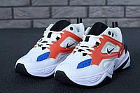 Кроссовки унисекс Nike M2K Tekno реплика ААА+ (натуральная кожа) размер 36-45 белый (живие фото), фото 1