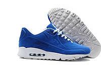 Зимние кроссовки Nike Air Max 90VT реплика ААА+ (натуральная замша с мехом) размер 45 синий