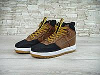 Кроссовки Nike Lunar Force 1 Duckboot реплика ААА+ (натуральная кожа) размер 41,43 коричневый, фото 1