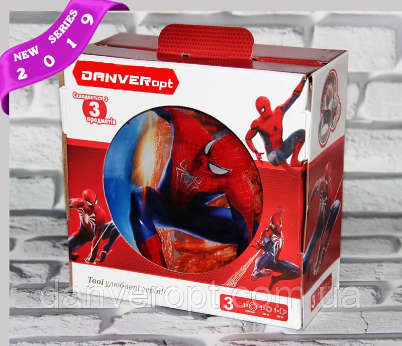 Посуда детская SPIDER MAN подарочный набор 3ка купить оптом со склада 7км Одесса
