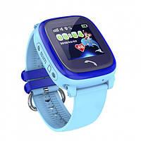 Детские телефон-часы с GPS трекером UWatch GW400S голубые