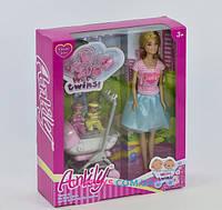 Кукла Anlily Близнецы с коляской и аксессуарами 99127