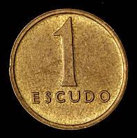 Монета Португалии 1 эскудо 1982 г.