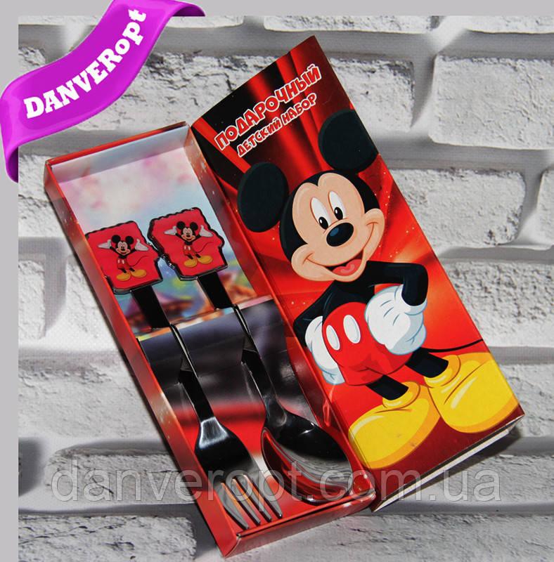 Столовый набор MICKEY MOUSE подарочный детский, купить оптом со склада 7км Одесса