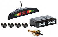 Парктроник автомобильный PAssistant на 4 датчика + LCD монитор (черные датчики)