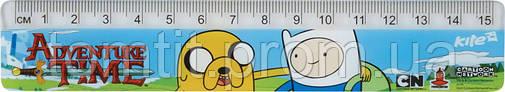 """Линейка пластиковая """"Adventure Time"""", 15 см, фото 2"""