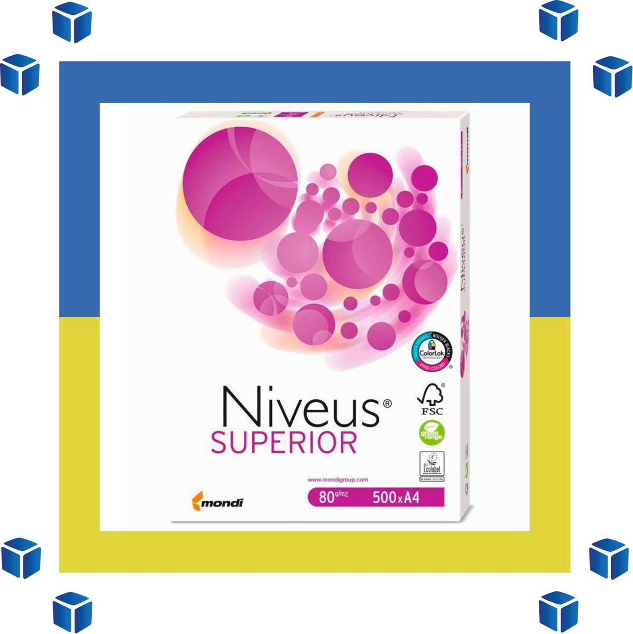 Офисная Бумага А4 Niveus SUPERIOR (класс А/80 г/м²/лучшие цены)