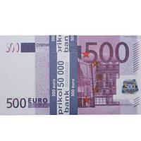 Деньги сувенирные 500 евро.