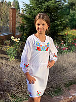 Сарафан Вышиванка крестиком ткань рубашка 122-140 см