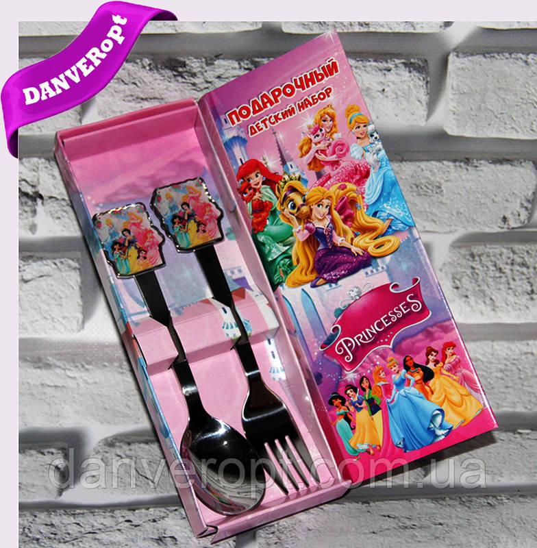 Столовий набір PRINCESSES подарунковий дитячий, купити оптом зі складу 7км Одеса