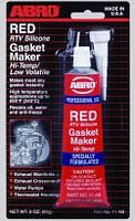 Герметик силиконовый Abro красный 11 AB оригинал (США)