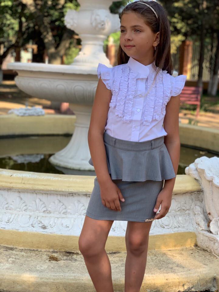 Подростковая юбка для школы  баска  Код 503-1 MM