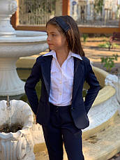 Пиджак подростковый на пуговицах с воланами 140-152 см, фото 2