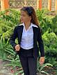 Пиджак подростковый на пуговицах с воланами 140-152 см, фото 5
