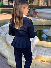 Пиджак детский на пуговицах с воланами 122-134см., фото 2
