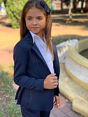 Пиджак детский на пуговицах с воланами 122-134см., фото 3
