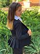Пиджак детский на пуговицах с воланами 122-134см., фото 4