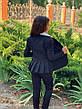 Пиджак детский на пуговицах с воланами 122-134см., фото 5