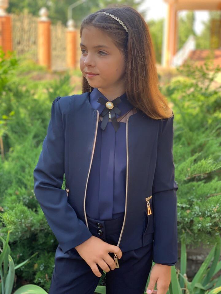 Пиджак школьный на девочку 122-134см