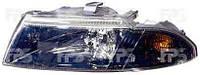 Фара передняя для Mitsubishi Carisma '99-04 правая (DEPO) темный рассеиватель