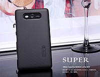 Чехол Nillkin для Nokia Lumia 820 чёрный (+пленка)